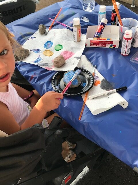 Child Painting at Tailgate Celebration - Beckfield College - Florence, KY