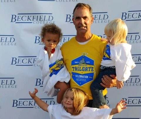 Beckfield College Student with his children at the Tailgate Celebration - Beckfield College - Florence, KY